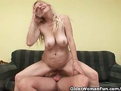 Older Old lady Approximately Big Breast And Hairy Pussy Gets Facial