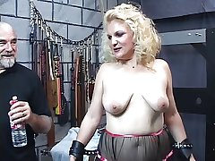 Mature bazaar sub gets spanked till her ass swan around red