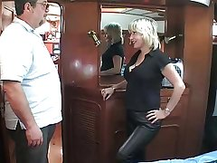 of age British blonde having it away om a boat