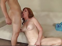 Redhead mature got her pussy creampied