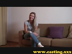 Casting - Powerfully built babe cums for real