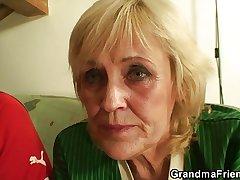 Peaches granny pleases two friends