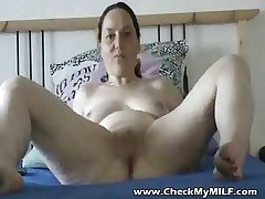 Shaved granny carrying-on with toys