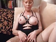 Tarty Granny give Stockings Doubles Up