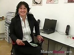 Of age secretary effectively POV blowjob
