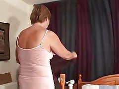 Granny shows her pussy and plays by oneself on be adjacent to
