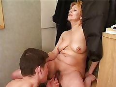 Blonde granny hardcore lovemaking