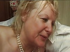 FRENCH MATURE n5 tow-haired bbw anal jocular mater milf and 2 bi men