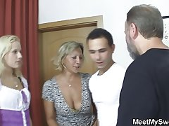 Czech blonde Baroque into home threesome