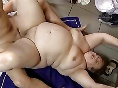 Fat Granny Fucked in the matter of a Bar