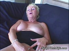 Blonde Milf plus her high-powered toy