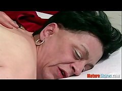 granny taking a cock down her pussy