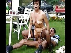 Open-air granny orgy