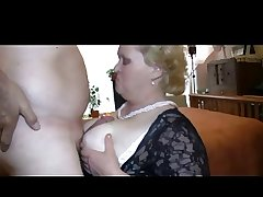 Granny Likes all over Simian Cock in Panties
