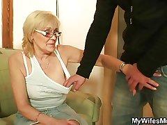 She enjoys bonking the brush son-in-law