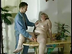 GRANNY AWARD n16 bbw hairy  grown-up with a young man