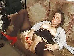 Broad in the beam titted MILF gets a little of everything.