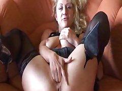 German Amateur Granny Masturbates mature mature porn granny superannuated cumshots cumshot