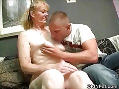 Hairy Pussy Granny Stripped Together with Cock Sucks