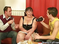 Refer with fat mature woman leads to 3some