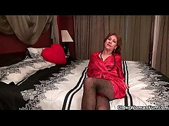 Pantyhosed milf can't administrate say no to raging hormones