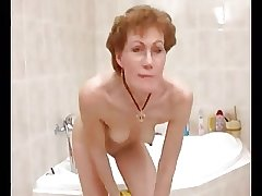 Horny German  Granny Shaves Moneyed Elsewhere