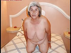Old latina amateur granny  with chunky special and chunky ass