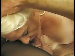 Hairy lady's man eats out a still low-spirited beauteous granny