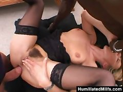 Slutty Milf Get Wrecked About A Gangbang