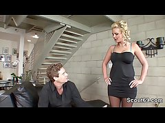 Perfect German MILF get fucked wide of Step-Son