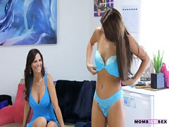 MomsTeachSex - Licking jizz unfamiliar her stepmoms twat