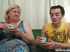 Horny granny seduces her lass in law for ages c in depth his wife not abode