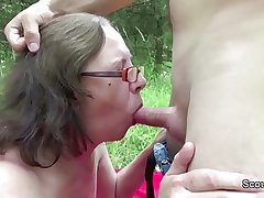 73yr old Granny Inveigle Fuck by 18yr old german wretch outdoor