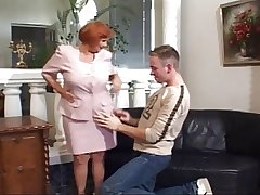 56 Yr. Old Redhead Granny Fucked By A Young Cock