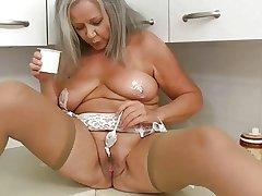 Horny grandma yon scullery