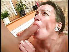 Hairy Granny Drilled Unconnected with Young Cock BVR
