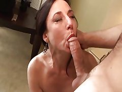 True MILF Karen Kourgar Takes Young Load of shit