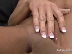 Horny granny gets their way clunge finger fucked