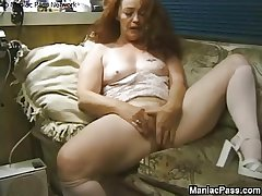 Longhaired granny enjoys sexual congress