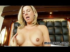 Sexy blonde milf upon first time full-grown video