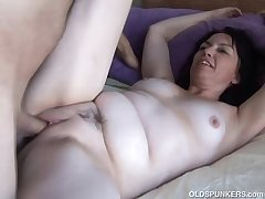Cute with an increment of cuddly mature honey is a super hot fuck