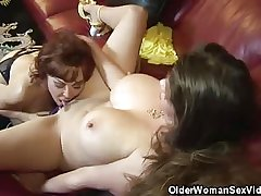 Mature Babes June And Vanessa Succeed in It On!