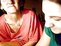 granny coupled with teen on webcam