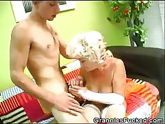 Horny Granny Rides In the sky A Fast Cock