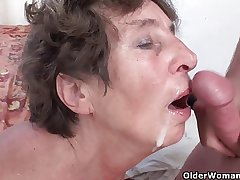 Gradual granny loves anal sex