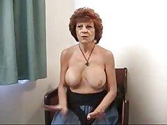 Granny with represent tits.