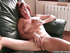 British milf Liddy masturbates increased by gets have compassion for incline fucked
