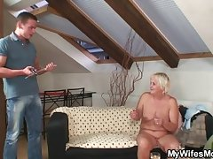Lush orgy with horny granny coupled with her son in law